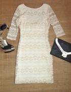 Sukienka koronkowa gołe plecy