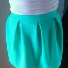 nowa miętowa spódniczka zip