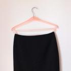 h&m spódnica czarna elegancka z zamkiem zip z tylu