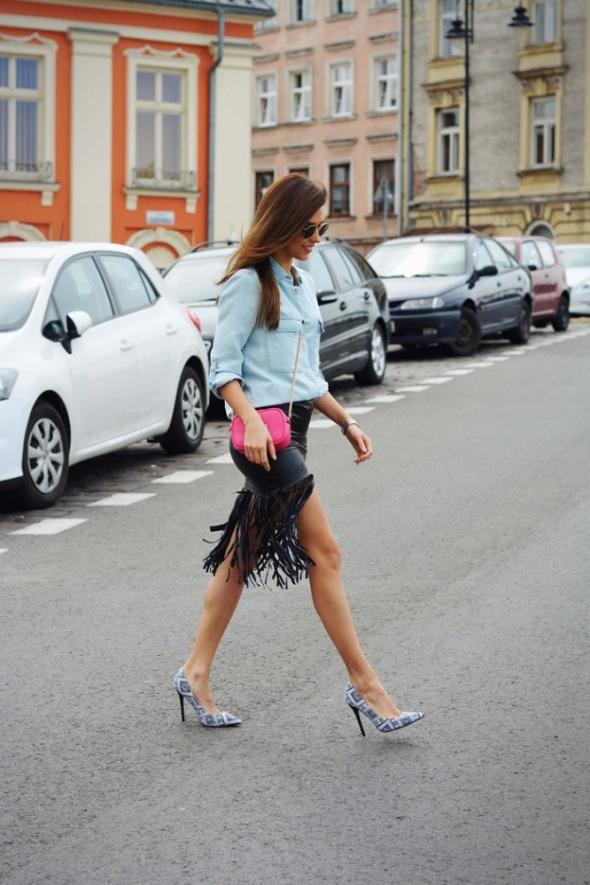 Spódnice Super modna spódnica z frędzlami rozmiar XS