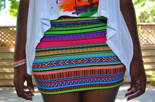 Aztec Skirt H&M
