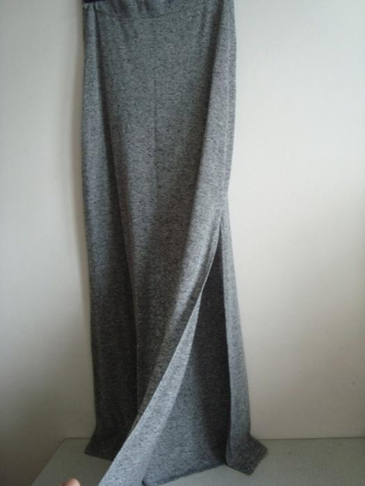 Spódnice szary melanż maxi spodnica S M