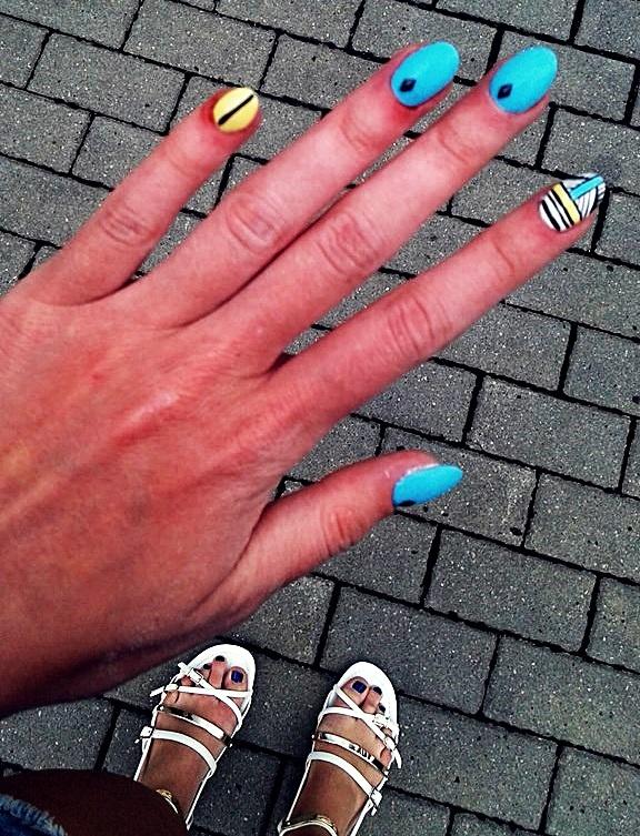 moje wczoraj zrobione paznokcie...