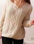 Sweter warkocz ATMOSPHERE