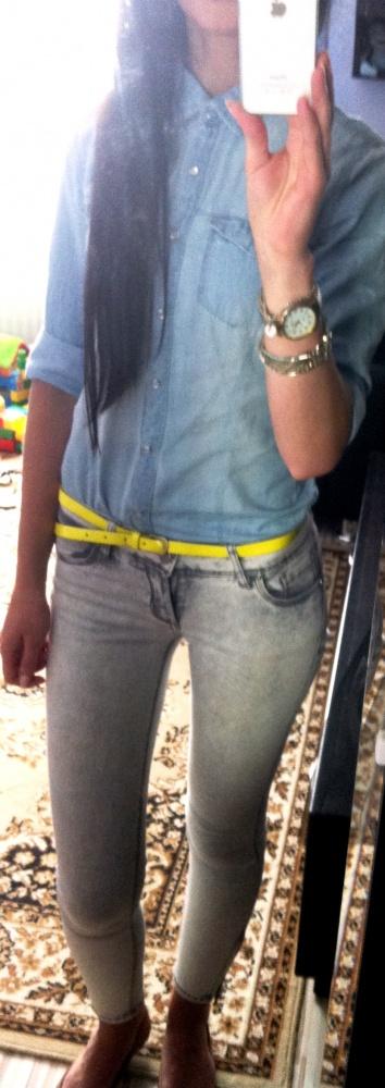 Codzienne jeans i neon limonka