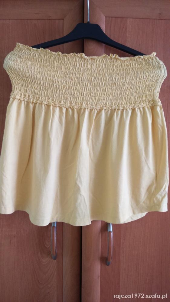 Spódnice Spódniczka letnia żółta z gumeczkami rozmiar 38