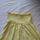 Spódniczka letnia żółta z gumeczkami rozmiar 38
