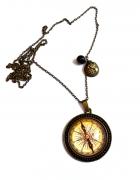 naszyjnik kompas i love travel