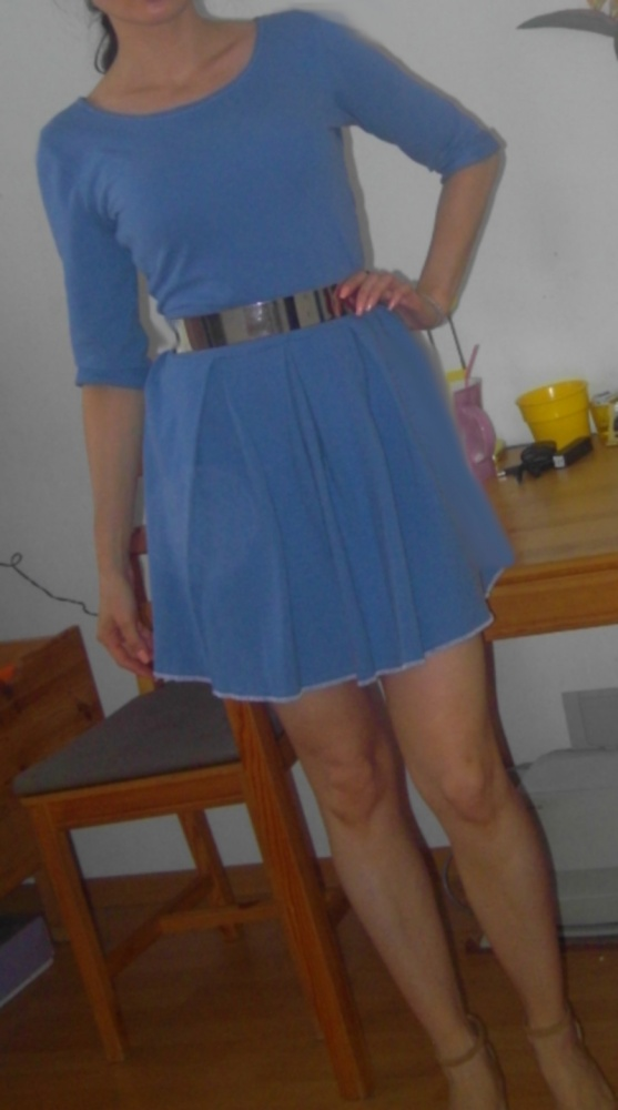 c208730cb4 Sukienka z koła lawendowy błękit nowa z metką38 w Suknie i sukienki ...