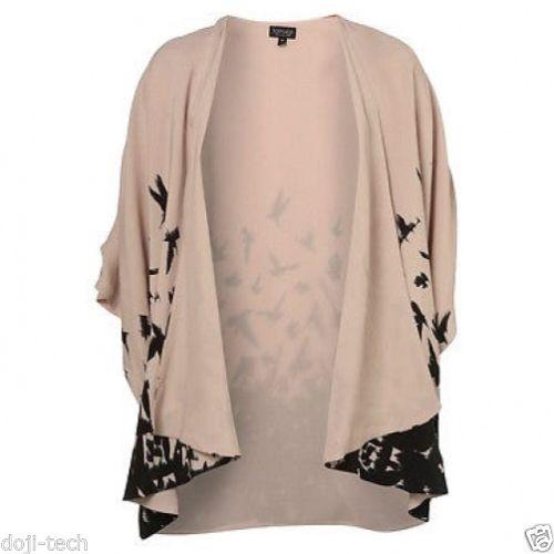 Ubrania TOPSHOP kimono ptaki