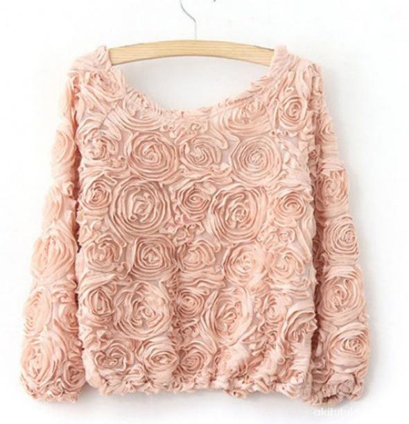 Bluza tłoczone róże