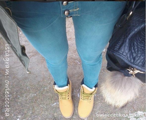 jeans baggy guziki M L 38 40