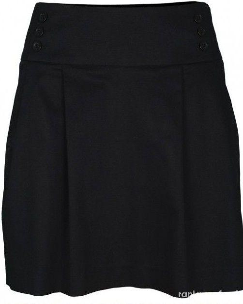 Troll czarna spódnica kieszonki