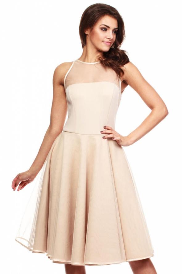 7f6897293d Suknie i sukienki TIULOWA SUKIENKA BEZ RĘKAWÓW NA WESELE 36 38 40 42