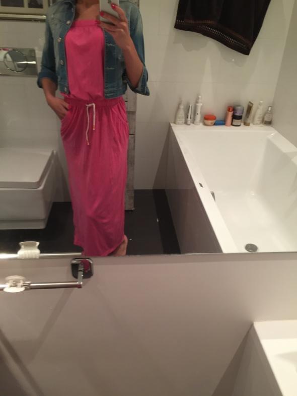 Codzienne Różowa sukienka MAXI