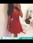 czerwona sukienka xs s