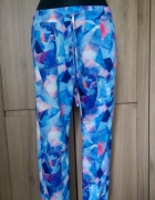 Spodnie CROPP M niebieskie wzorki...
