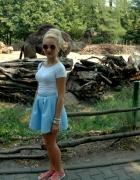 elegancka spódniczka mohito baby blue i tshirt...