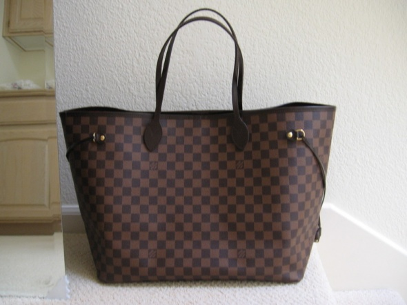69aa99777df2d Torebki na co dzień Louis Vuitton Neverfull Damier Ebene MM replika
