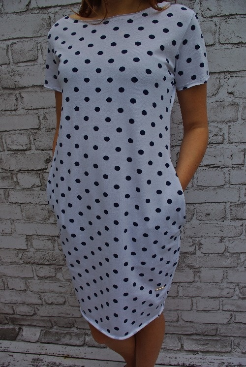WŁOSKA sukienka TUBA w GROCHY Jakość
