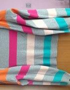 Krótki sweterek Vero Moda w kolorowe paski L