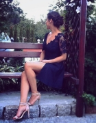 granatowa sukienka DIY