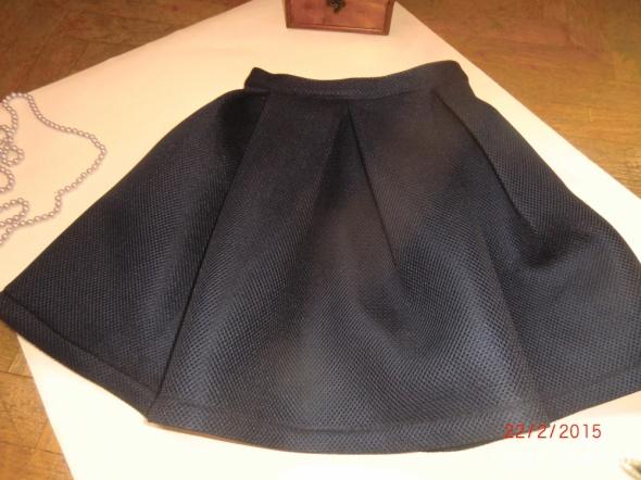 Spódnice Spódnica granat nowa S stojąca