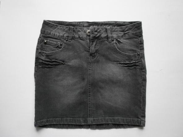Spódnica jeans szara z ćwiekami...