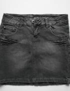 Spódnica jeans szara z ćwiekami