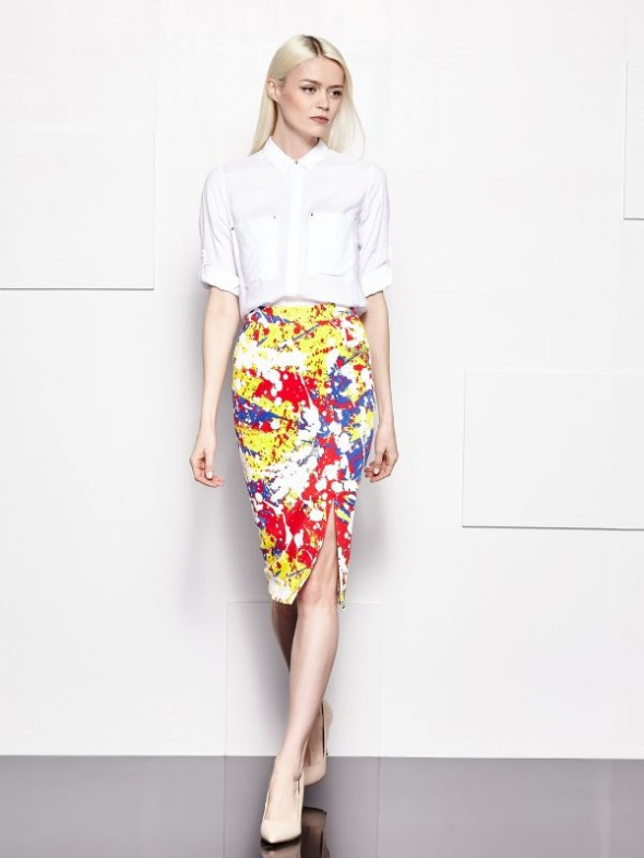 Spódnice Spódnica Mohito ołówkowa floral kwiaty 36