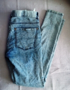 PULL & BEAR 38 jegginsy acid jeansy skinny rurki
