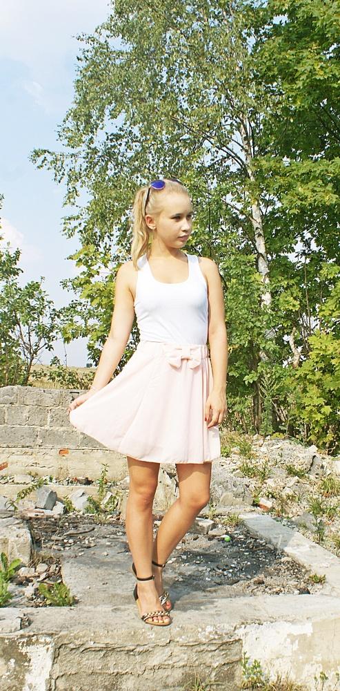 Blogerek Pudrowa spódniczka