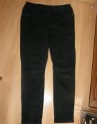 TU czarne jeansowe tregginsy dla lekko puszystej44