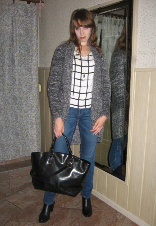 Mój styl Długi sweter