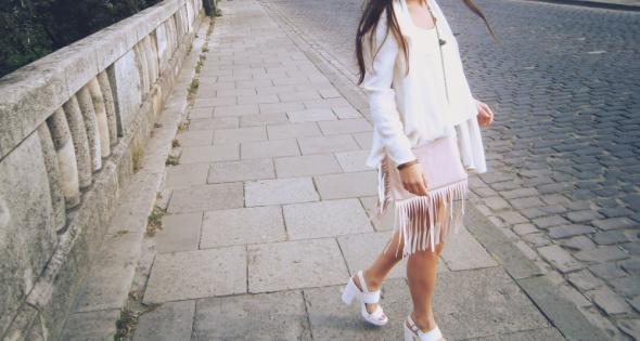 Blogerek Handmade jacket handbagshortsblouse