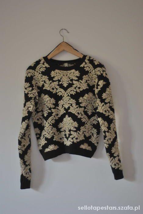 Ubrania sweter w barokowe wzory