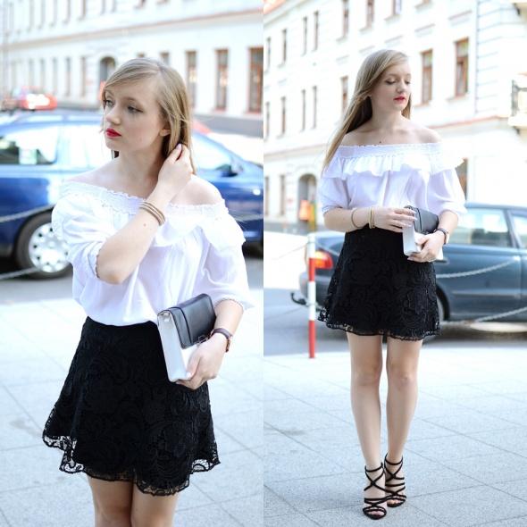 Blogerek Koszula z odkrytymi ramionami