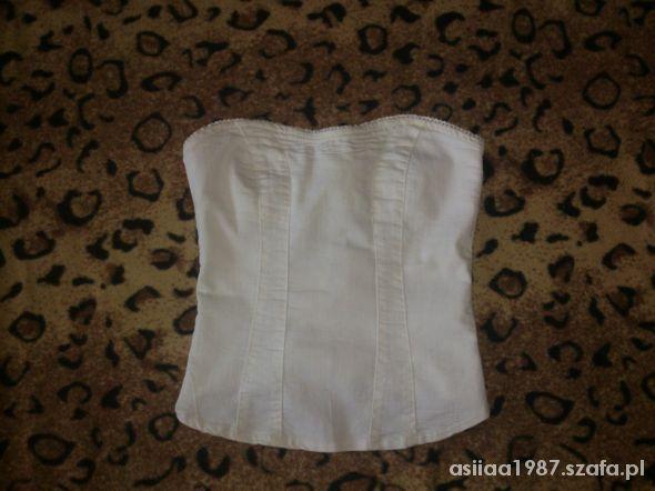 Biały Gorset Bershka 38