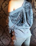 śliczna bluzka ze skrzydłami na plecach hit