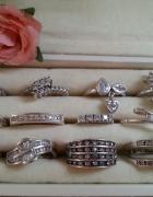 srebrne pierścionki cyrkonie srebro pierścionek