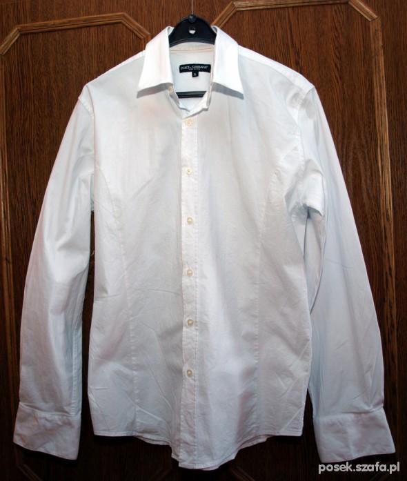 Koszula DG Dolce Gabbana biała cekiny w Koszule Szafa.pl  K0ZfW