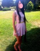 pastelowa różowa mini sukienka...