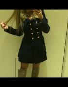 Granatowy płaszcz rozmiar S