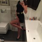 Czarna sukienka złotko