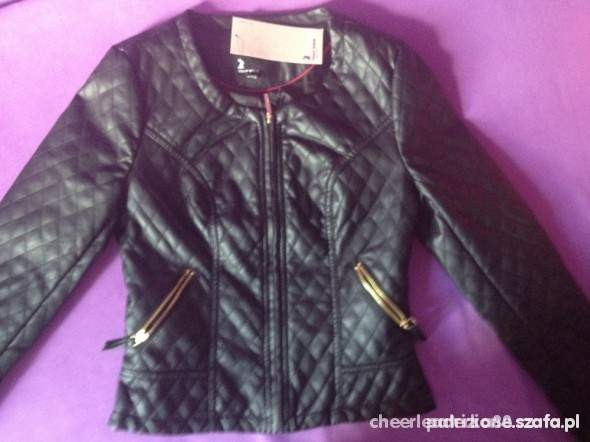 Ubrania kurtka ramoneska pikowana czarna tally weijl