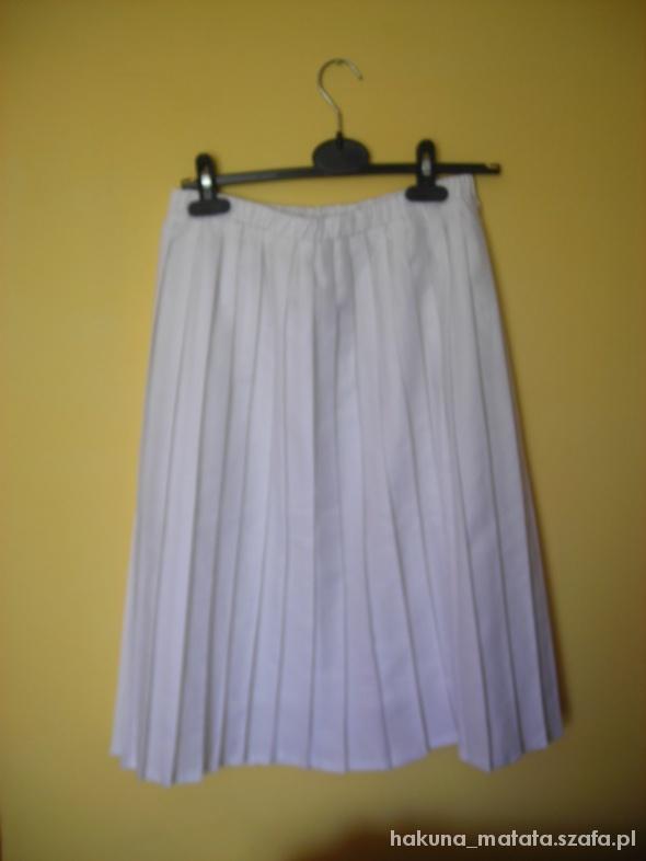 Spódnice Biała plisowana spódnica midi