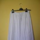 Biała plisowana spódnica midi
