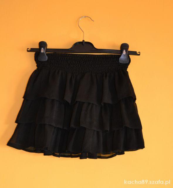 Spódnice Czarna mini New Look falbanki