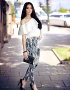 Modne Spodnie z bluzeczką hiszpanką