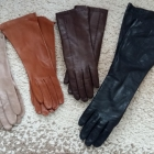skórzane rękawiczki